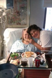 Here I am in the hospital sick because I have Cystinosis!