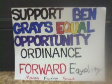 That Rally that started a lot of internal drama within the Omaha LGBT Community over my grassroots organizing.