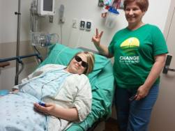 Me in Pre-op with Diane and family