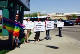 International Day Against Homophobia and Transphobia Rally