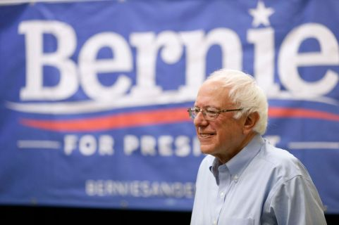 Democratic presidential candidate, Sen. Bernie Sanders, I-Vt., speaks during the Des Moines Youth Summit, Sunday, Sept. 27, 2015, at Creative Visions in Des Moines, Iowa. (AP Photo/Charlie Neibergall)